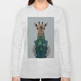 the giraffe in jacket. Long Sleeve T-shirt