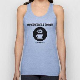 Superheroes and Scones Unisex Tank Top