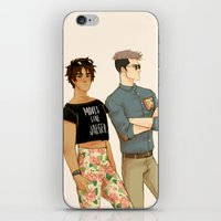 snk iPhone & iPod Skins featuring flowers in yo pants by JohannaTheMad