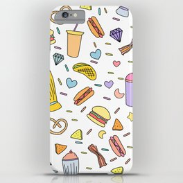 Fast food & Shakes iPhone Case