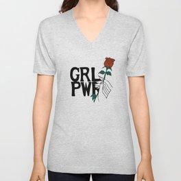 GRL PWR Rose Unisex V-Neck