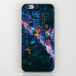 Cityscape Night View iPhone Skin