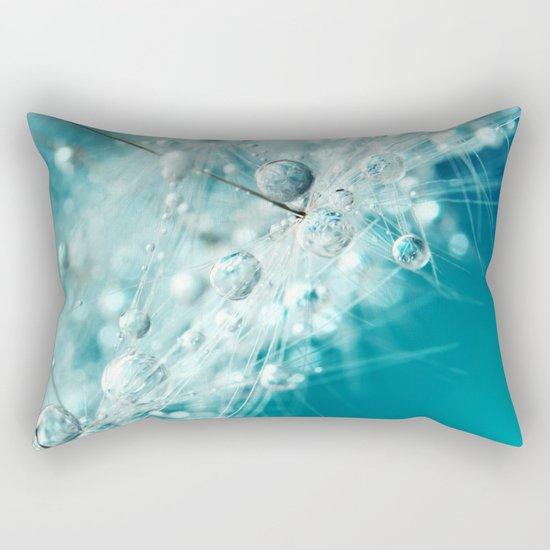 Dandy Starburst in Blue Rectangular Pillow