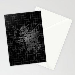 Lincoln map Nebraska Stationery Cards
