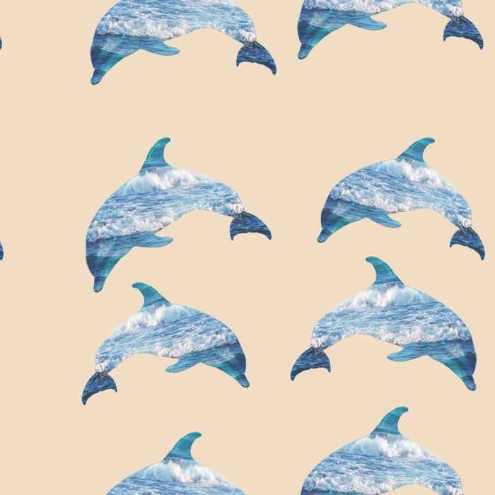 pattern dolphins Leggings