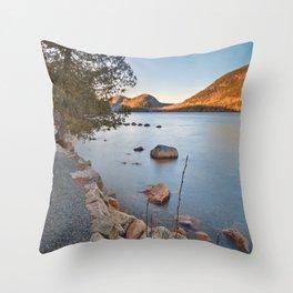 Jordan Pond Trail Throw Pillow