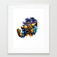 thanos Framed Art Prints featuring Thanos by Vincent Vernacatola
