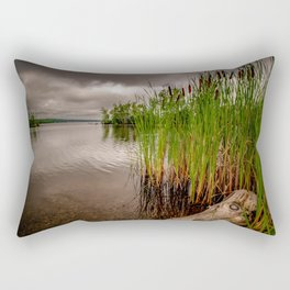 Driftwood And Cattails Rectangular Pillow