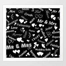 Words of Love. Art Print
