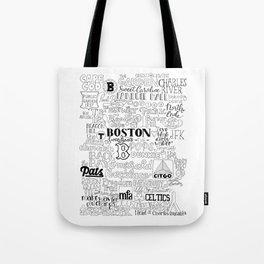Boston Typography Mashup Tote Bag