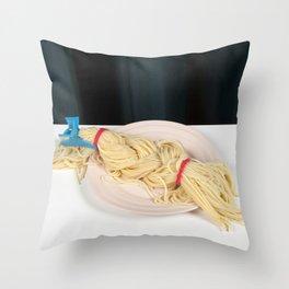 Blond Braid Throw Pillow