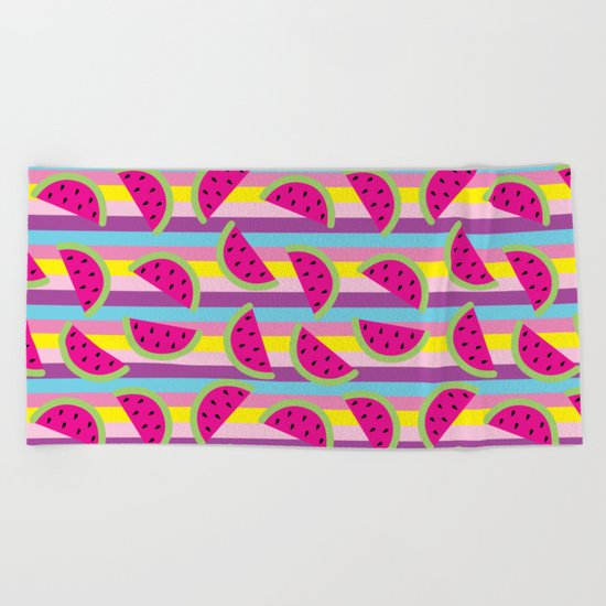 Watermelon party  Beach Towel