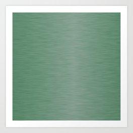 Metallic Green Art Print