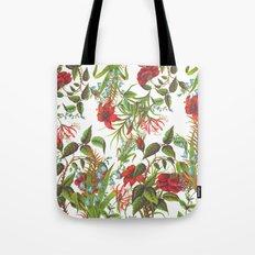 Ruby & Cerulean Floral Tote Bag