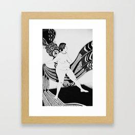 Crisalida black and white Framed Art Print