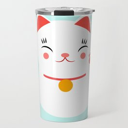 Lucky happy Japanese cat Travel Mug