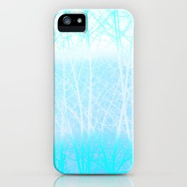 Frosted Winter Branches in Misty Blue iPhone Case
