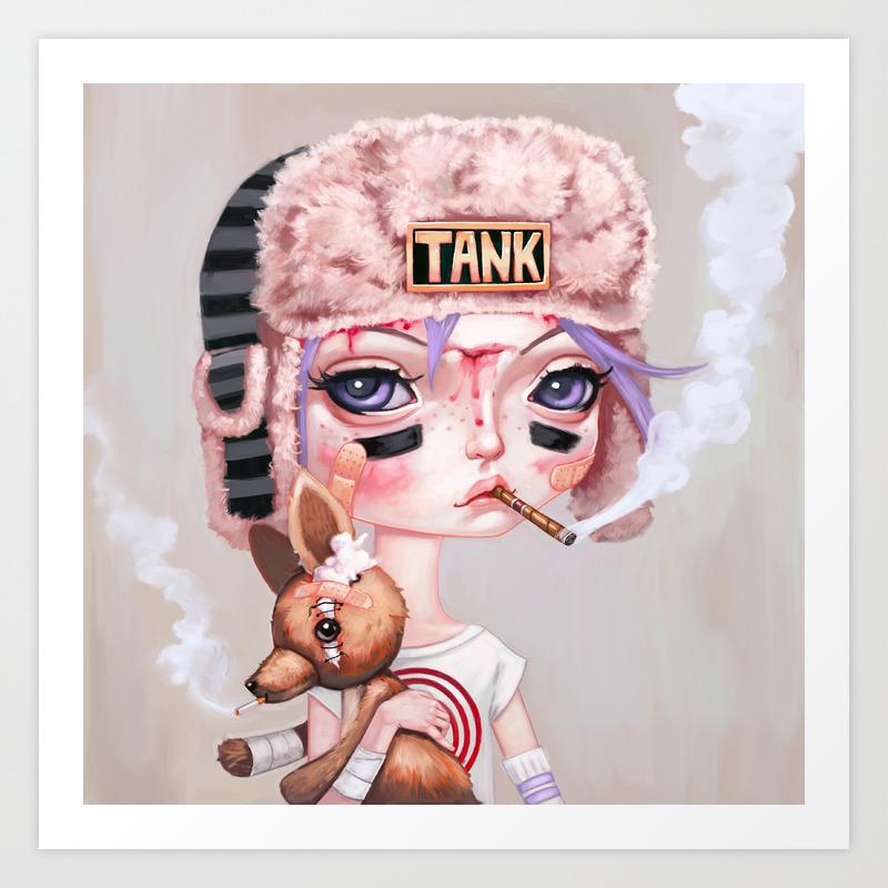 Tank Girl And Booga Art Print By Melanieschultz Society6