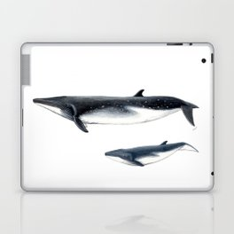 Bryde´s whale and baby whale Laptop & iPad Skin