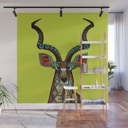 antelope chartreuse Wall Mural