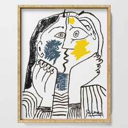 Pablo Picasso Kiss 1979 Artwork Reproduction For TShirts, Framed Prints Serving Tray