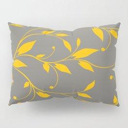 FLOWERY VINES | grey yellow Pillow Sham