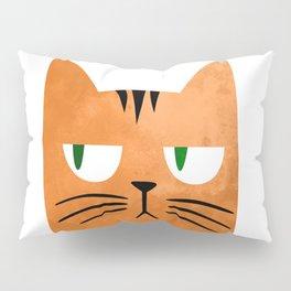 Orange cat with attitude Pillow Sham