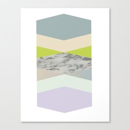pastel loves marble geometry Canvas Print