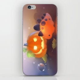 Pumpkin Dino iPhone Skin