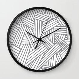 Inter Lines Gray Wall Clock