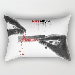 Not abuse Rectangular Pillow