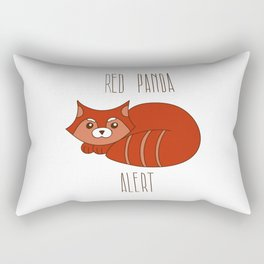 Funny little abstract red panda Rectangular Pillow