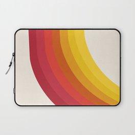 4-Sho - retro 70s style throwback vibes 1970's trendy decor art minimalist rainbow stripes Laptop Sleeve