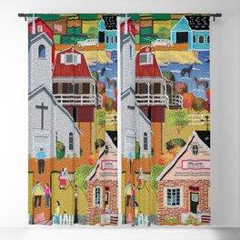 Country Quilting Church Blackout Curtain