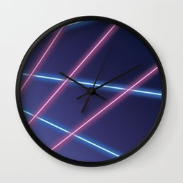 Laser Class Photo Backdrop Wall Clock