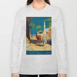 Vintage poster - Tripoli Long Sleeve T-shirt