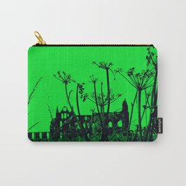 Whitby Abbey in Green Carry-All Pouch