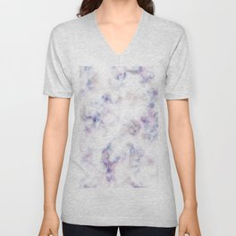 The pattern of blue marble with a red tint Unisex V-Neck