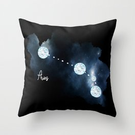 Aries Constellation in Diamonds - Star Signs and Birth Stones Throw Pillow