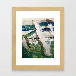 Polar Bear Going Home Framed Art Print