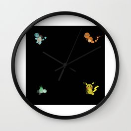 Bubbly Monsters Wall Clock