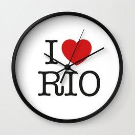 I love Rio Wall Clock