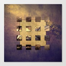 SQUARE AMBIENCE - Magic Tree - mixed-media collage Canvas Print
