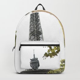 Eiffel tower architecture Backpack