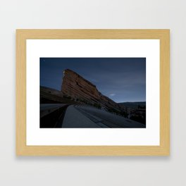 Moon on The Rocks Framed Art Print