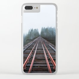 Abandoned Railroad Vance Creek Bridge - Olympic National Park, Washington Clear iPhone Case