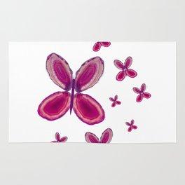 Warm purple agate butterflies Rug