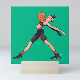 CoolNoodle and AirJordan6 Playoffs Mini Art Print