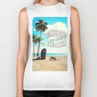 500 days of summer Biker Tanks featuring Summer Days by Nicklas Gustafsson