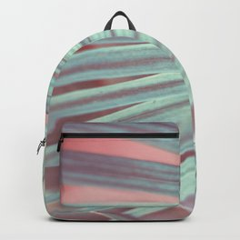 Tropical Leaf in Pink and Aqua Backpack
